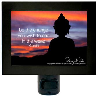 """Be The Change"" Inspirational Quote Buddha Night Light ..."